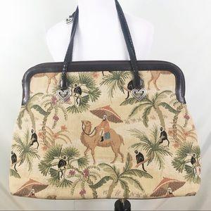 Brighton Vintage Carpet Shoulder Bag Camel Desert